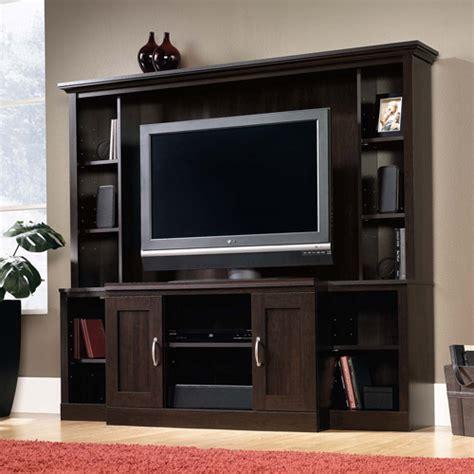Walmart Living Room Entertainment Center Sauder Cinnamon Cherry Entertainment Center For Tvs Up To