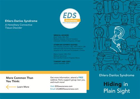 New Awareness Materials For Eds Quot Hiding In Plain Sight Quot Brochure Now You Can Print Through Vistaprint Trifold Brochure Template