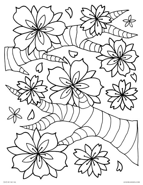 cherry blossom coloring pages cherry blossom coloring page az pages sketch coloring page