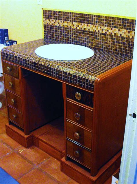 turn desk into vanity we could convert that antique desk into a bathroom vanity