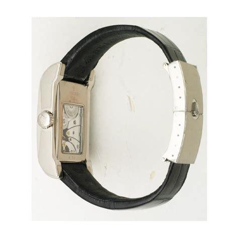 Rolex Cellini Silver White Leather rolex cellini 18k white gold on leather