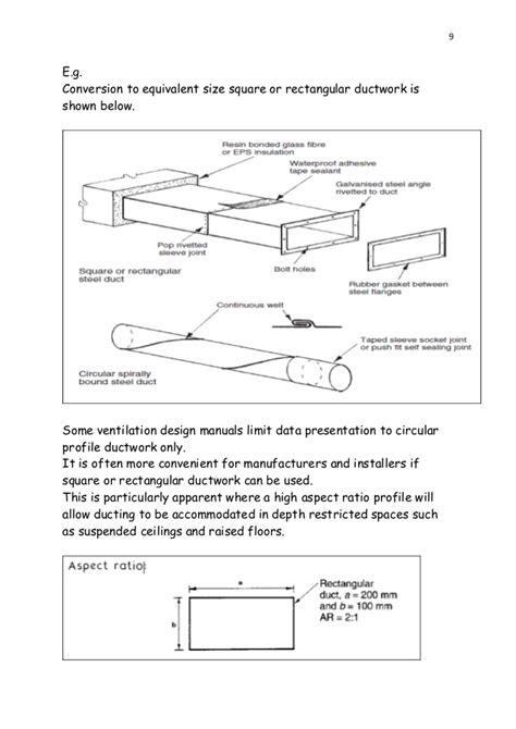design criteria for ventilation bs2 ventilation design exles