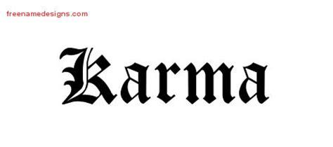 tattoo font good karma karma archives free name designs