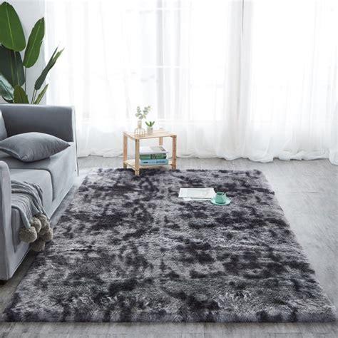 large fluffy rugs carpet anti skid shaggy area rug dining