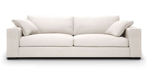White Modern Couches by White Sofa With Solid Wood Legs Article Stika Modern