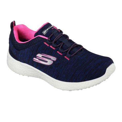 skechers sport running shoes skechers sport burst equinox womens blue cushioned running