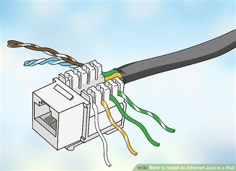 ethernet wall jack wiring how to install an ethernet jack in a wall with pictures