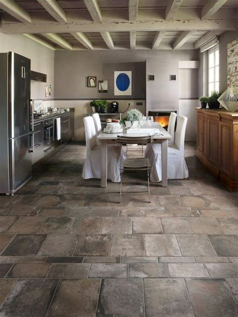 kitchen floor tiles ideas 25 flooring ideas with pros and cons digsdigs