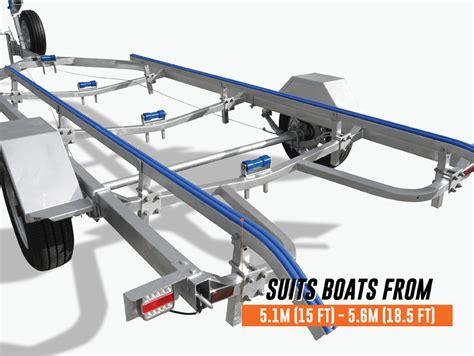 boat trailer wheels brisbane boat trailer 5 5m drive on skid type 15 18 5ft boats heavy