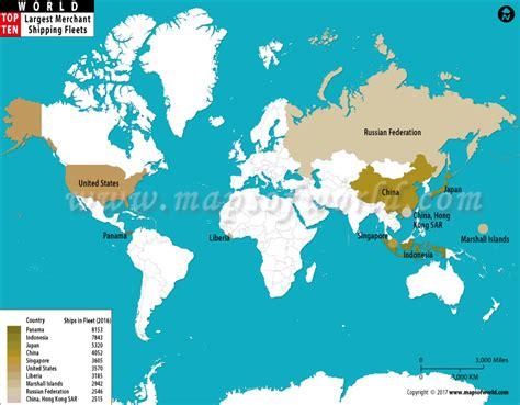 largest merchant shipping fleets world top ten