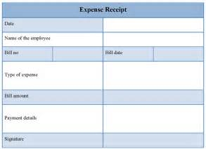expense receipt template receipt template for expense exle of expense receipt