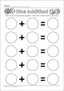 printable fraction dice addition worksheets dice and worksheets on pinterest