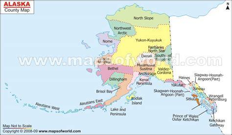 map of alaska canada and usa alaska county map us