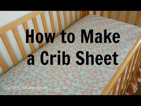 Mini Crib Sheet Tutorial How To Make A Crib Sheet Theribbonretreat