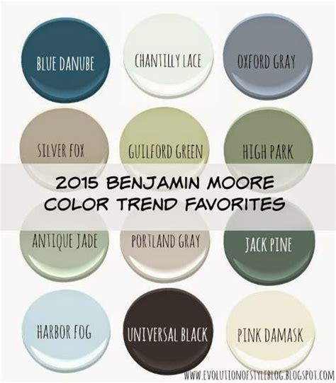 evolution of style benjamin s 2015 color of the