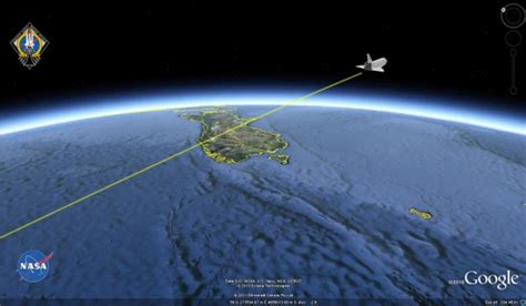 google images earth from space tracking the space shuttle in google earth google earth blog