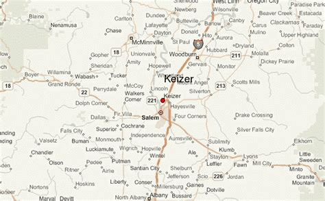 map of keizer oregon keizer location guide