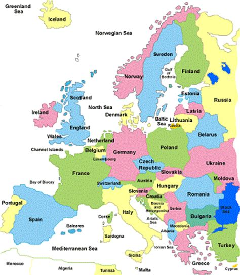 map of europe countries maps of europe region country