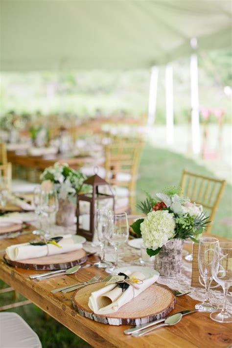 New York Farm Wedding   Rustic Wedding Table Decorations