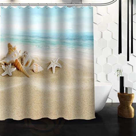 seashell shower curtains online get cheap seashell shower curtains aliexpress com