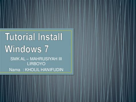 Tutorial Instal Windows 7 32 Bit | tutorial instal windows 7 ultimate tutorial install