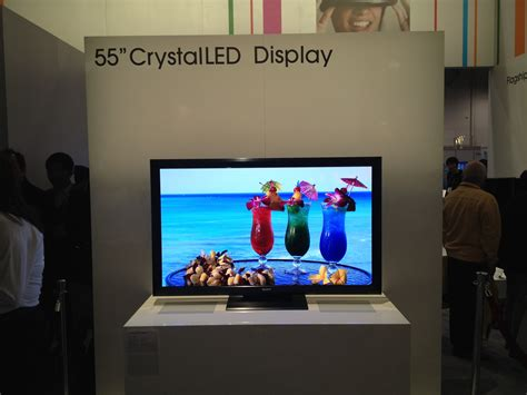 display tv sony shows off 55 inch crystal led hdtv techhive