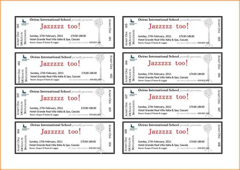 Avery Templates Tickets avery ticket template authorization letter pdf