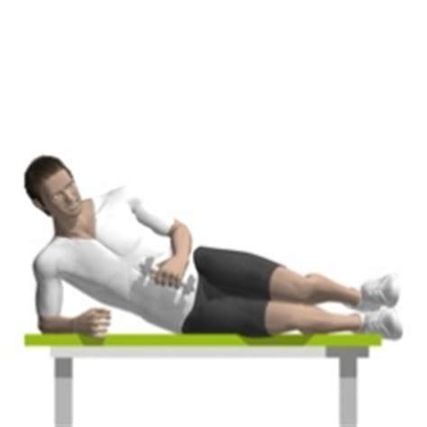 external rotation on bench external rotation lying dumbbell exercise strength