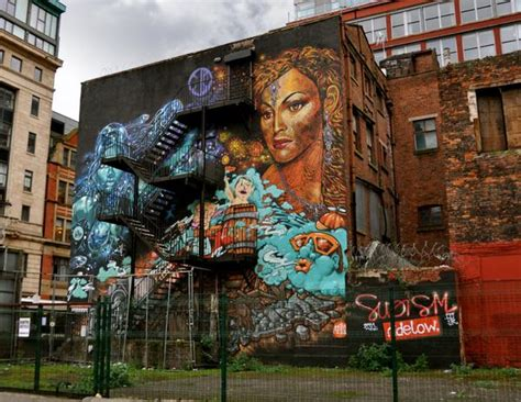 Landscape Wall Mural subism mural northern quarter manchester by lisa hull