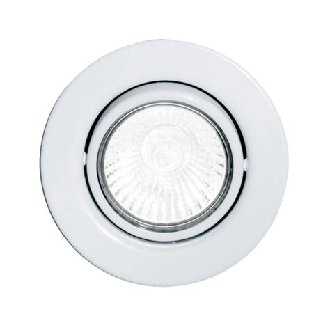 Eglo 87377 Einbauspot Gu10 Adjustable Spotlight In White Spotlights Ceiling Lighting