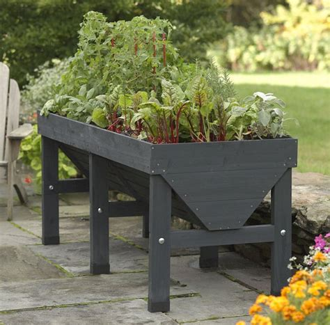 easy pieces wooden elevated planters gardenista