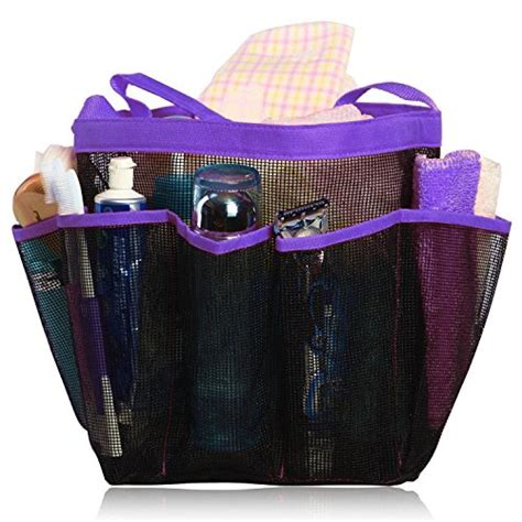 Product Shower Set Bag hanging toiletry and bath organizer with 8 storage compartments shower tote mesh