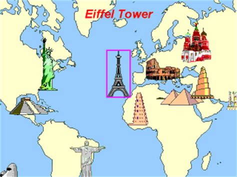 map world mouments learn world geography cultural monuments