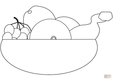 fruit bowl coloring page fruit bowl coloring page free printable coloring pages