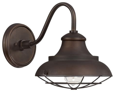 Farmhouse Outdoor Light Capital Lighting 4561bb Outdoor 1 Light Barn Style Outdoor Shade Bronze Farmhouse Outdoor