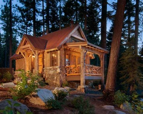 snug rustic home exterior designs   cold winter days