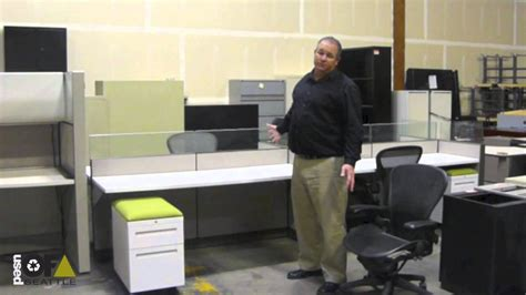 used office furniture seattle allsteel benching station