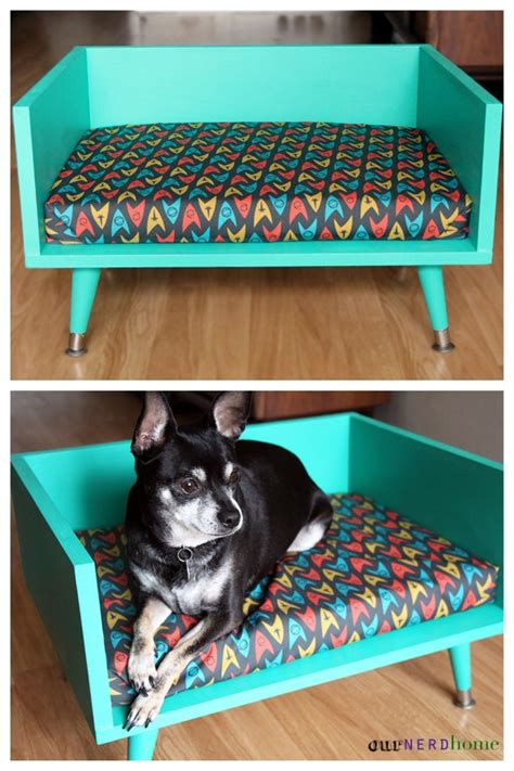 mid century modern dog bed 19 wooden dog beds to create for your furry four legged