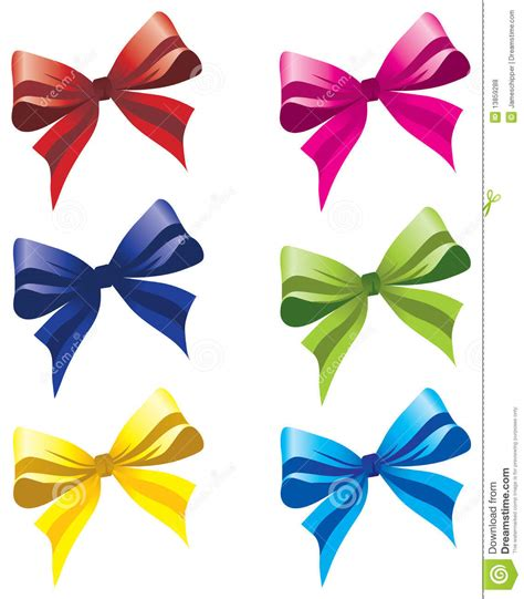 colorful bows six colorful bows royalty free stock photos image 13859288