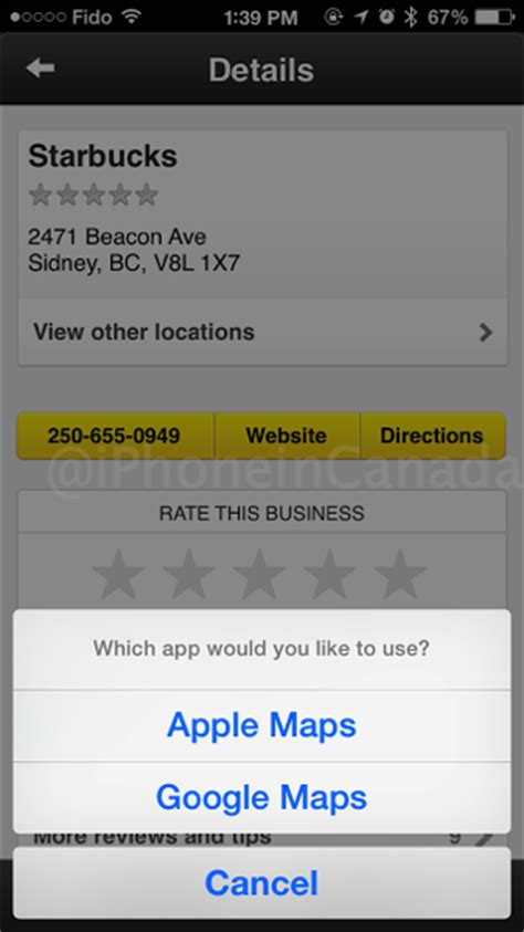 Yellow Pages Ca Lookup Canadian Yellow Pages For Ios Adds Maps Integration Iphone In Canada
