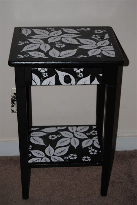 Decoupage Bedside Table - bedside table restyled with decoupage decoupage paint