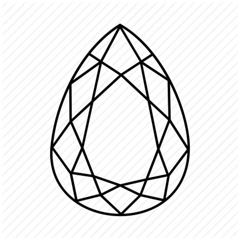 Gem Outline by Gem Jewellery Pear Polished Shape Icon Icon Search Engine