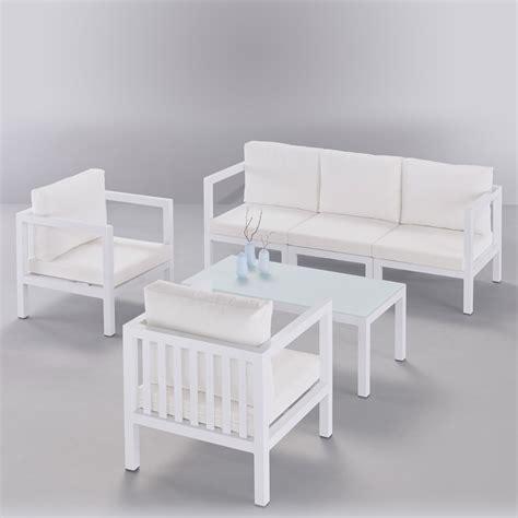 salon de jardin en fonte d aluminium blanc jsscene