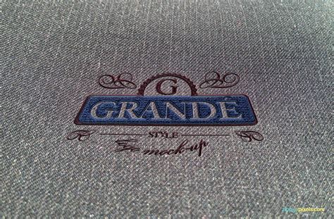 embroidery design mockup professional psd logo mockups real fabrics surfaces