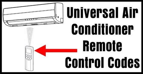 universal air conditioner remote codes