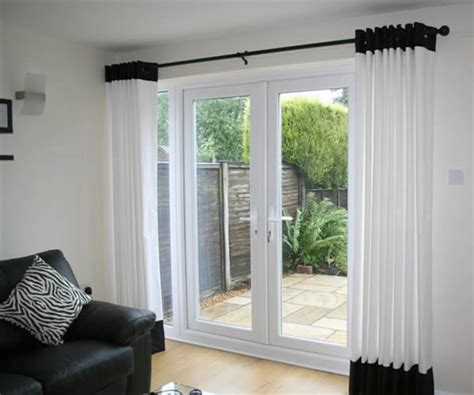 patio window curtain ideas with a white suite and white patio door curtains hi