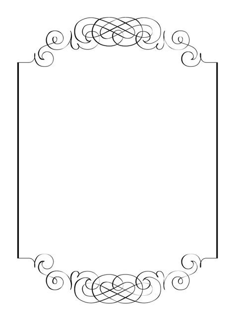 Free vintage clip art images: Calligraphic frames and