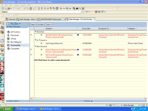 lotus notes functions use lotus notes to automatically add project tasks to to