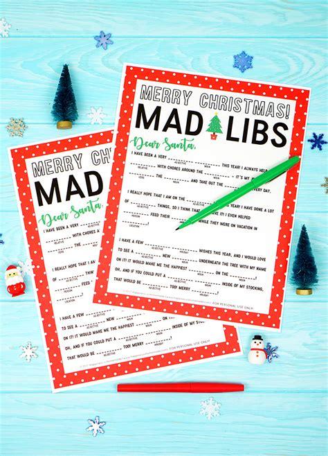 christmas mad libs printable happiness is homemade