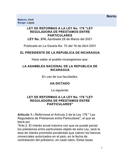 contrato de prestamo entre particulares con o sin prestamos entre particulares nicaragua